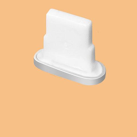 Bouchon Anti-poussiere Lightning USB Jack J07 pour Apple iPhone 11 Argent