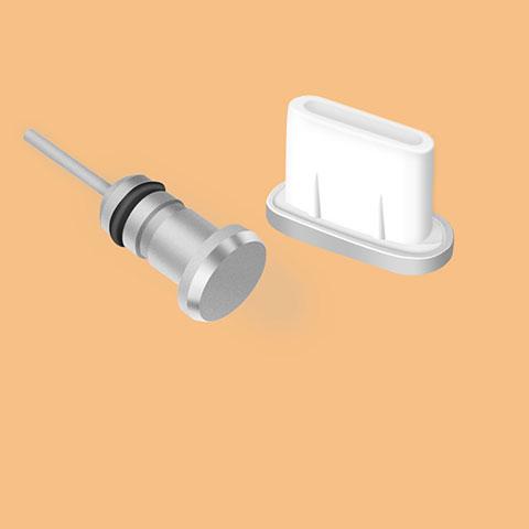 Bouchon Anti-poussiere USB Jack Android Type-C Universel Argent