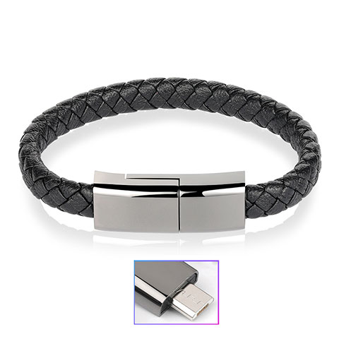 Cable Micro USB Android Universel 20cm S01 Noir