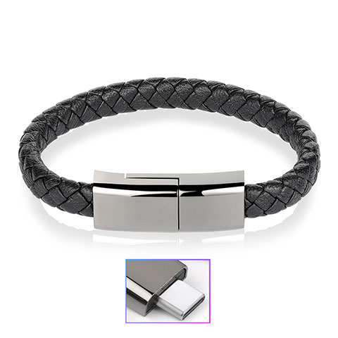 Cable Type-C Android Universel 20cm S01 Noir