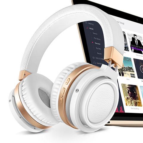 Casque Sport Bluetooth Stereo Ecouteur Intra-auriculaire Sans fil Oreillette H71 Blanc