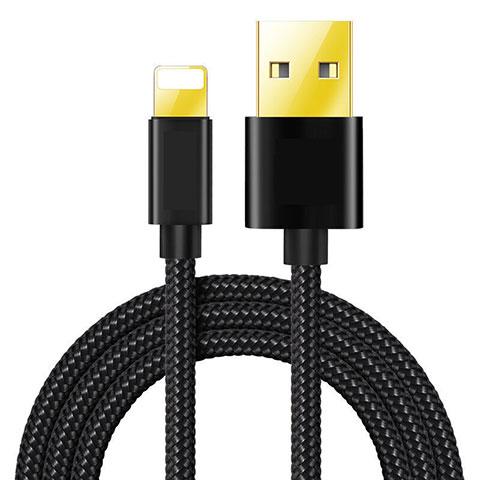 Chargeur Cable Data Synchro Cable L02 pour Apple iPhone 11 Pro Noir