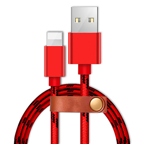 Chargeur Cable Data Synchro Cable L05 pour Apple iPhone 11 Pro Rouge