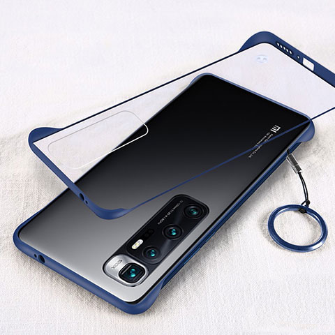Coque Antichocs Rigide Transparente Crystal Etui Housse H01 pour Xiaomi Mi 10 Ultra Bleu