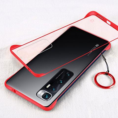 Coque Antichocs Rigide Transparente Crystal Etui Housse H01 pour Xiaomi Mi 10 Ultra Rouge