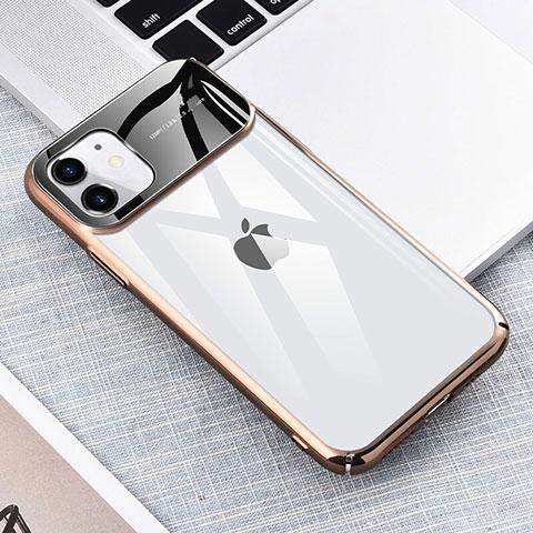 Coque Antichocs Rigide Transparente Crystal Etui Housse S04 pour Apple iPhone 11 Or