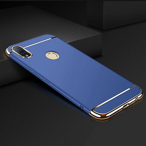 Coque Bumper Luxe Metal et Plastique Etui Housse M01 pour Huawei Honor 8X Bleu