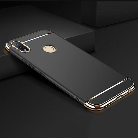 Coque Bumper Luxe Metal et Plastique Etui Housse M01 pour Huawei Honor 8X Noir