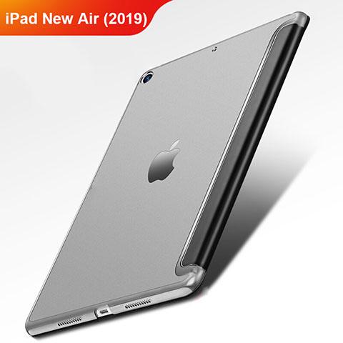Coque Clapet Portefeuille Livre Cuir L01 pour Apple iPad New Air (2019) 10.5 Noir