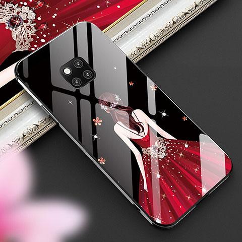 Coque Contour Silicone et Vitre Dos de Fille Miroir Etui Housse pour Huawei Mate 20 Pro Mixte