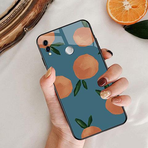 Coque Contour Silicone et Vitre Fruit Miroir pour Huawei Honor 8X Bleu