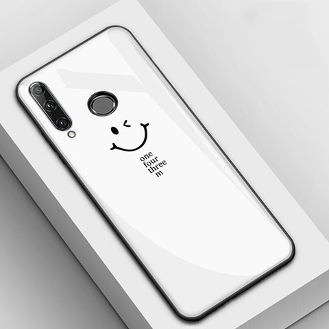 Coque Contour Silicone et Vitre Motif Fantaisie Miroir Etui Housse pour Huawei Honor 20 Lite Blanc