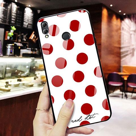 Coque Contour Silicone et Vitre Motif Fantaisie Miroir pour Huawei Honor 8X Rouge