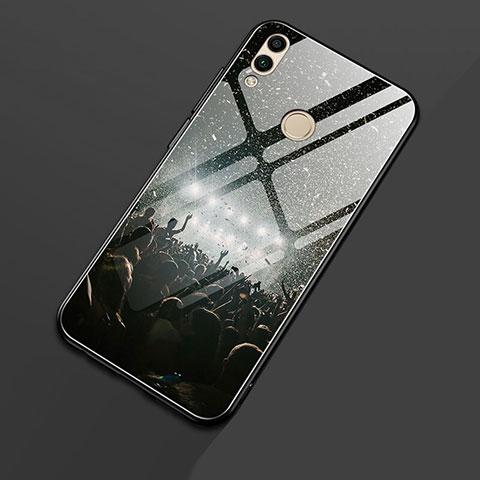 Coque Contour Silicone et Vitre Motif Fantaisie Miroir S01 pour Huawei Honor 8X Noir