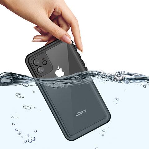 Coque Etanche Contour Silicone et Plastique Housse Etui Waterproof 360 Degres W01 pour Apple iPhone 11 Noir
