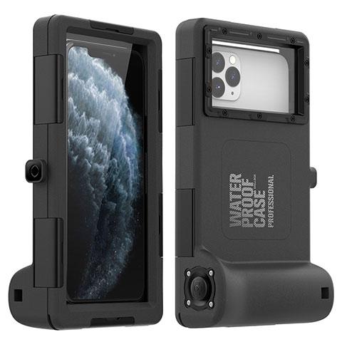 Coque Etanche Contour Silicone Housse et Plastique Etui Waterproof 360 Degres pour Apple iPhone 11 Pro Max Noir
