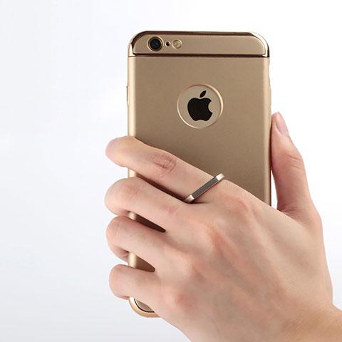 Coque Luxe Aluminum Metal et Support Bague Anneau pour Apple iPhone 6S Or