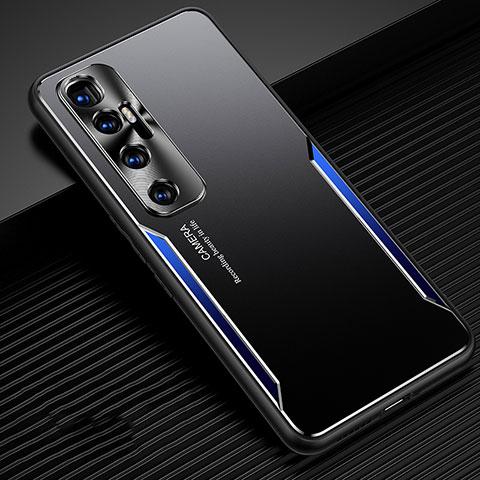Coque Luxe Aluminum Metal Housse Etui M01 pour Xiaomi Mi 10 Ultra Bleu