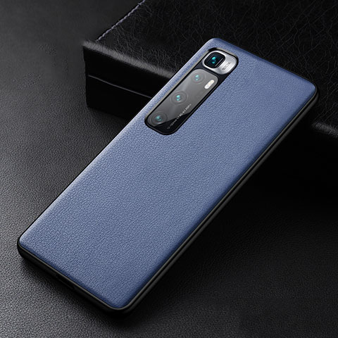 Coque Luxe Cuir Housse Etui S01 pour Xiaomi Mi 10 Ultra Bleu