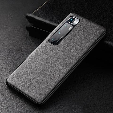 Coque Luxe Cuir Housse Etui S01 pour Xiaomi Mi 10 Ultra Noir