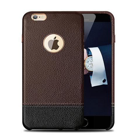 coque luxe cuir housse pour apple iphone 6 plus marron 12840 1