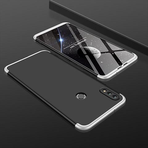 Coque Plastique Mat Protection Integrale 360 Degres Avant et Arriere Etui Housse pour Huawei Honor 8X Argent et Noir