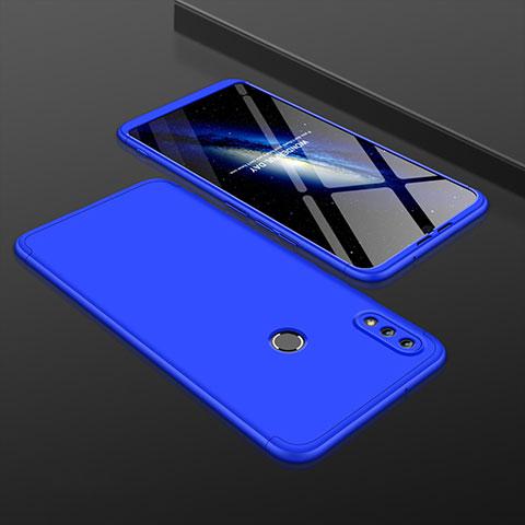 Coque Plastique Mat Protection Integrale 360 Degres Avant et Arriere Etui Housse pour Huawei Honor 8X Bleu