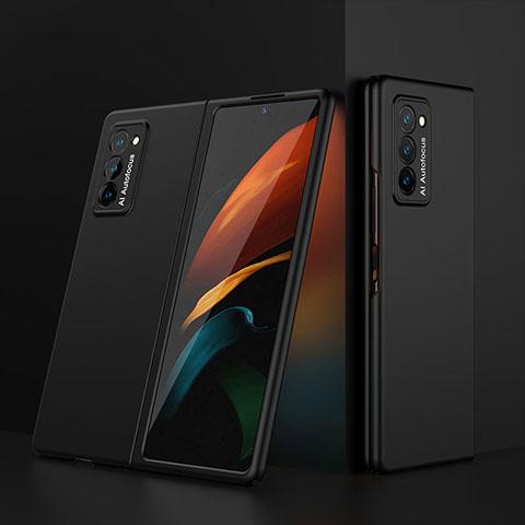 Coque Plastique Mat Protection Integrale 360 Degres Avant et Arriere Etui Housse pour Samsung Galaxy Z Fold2 5G Noir