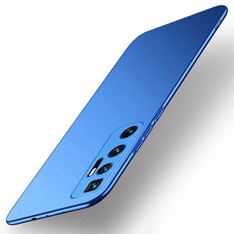 Coque Plastique Rigide Etui Housse Mat M01 pour Xiaomi Mi 10 Ultra Bleu
