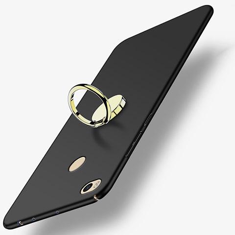 Coque Plastique Rigide Mat avec Support Bague Anneau A02 pour Xiaomi Mi Max 2 Noir
