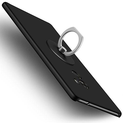 Coque Plastique Rigide Mat et Support Bague Anneau pour Xiaomi Mi Mix Noir