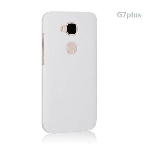 Coque Plastique Rigide Mat pour Huawei G7 Plus Blanc