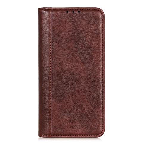 Coque Portefeuille Livre Cuir Etui Clapet L01 pour Motorola Moto G9 Plus Marron