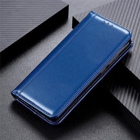 Coque Portefeuille Livre Cuir Etui Clapet L01 pour Oppo Reno3 A Bleu