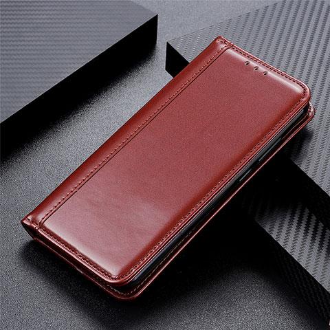 Coque Portefeuille Livre Cuir Etui Clapet L01 pour Oppo Reno3 A Marron