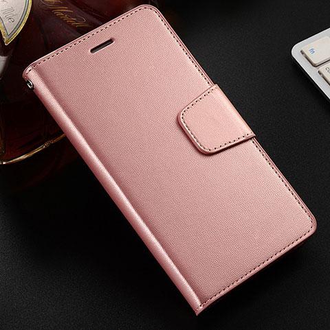 Coque Portefeuille Livre Cuir Etui Clapet L03 pour Huawei Honor 8X Or Rose