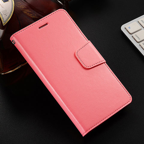 Coque Portefeuille Livre Cuir Etui Clapet L03 pour Huawei Honor 8X Rose