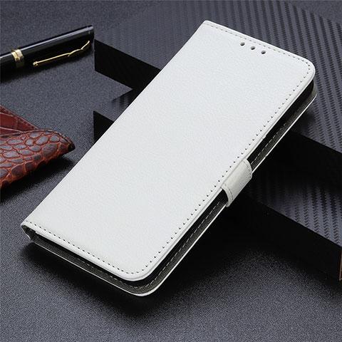Coque Portefeuille Livre Cuir Etui Clapet L03 pour Motorola Moto G9 Plus Blanc