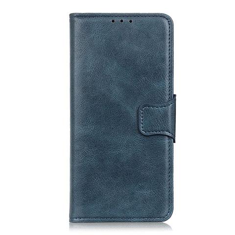 Coque Portefeuille Livre Cuir Etui Clapet L03 pour Oppo Reno3 A Bleu