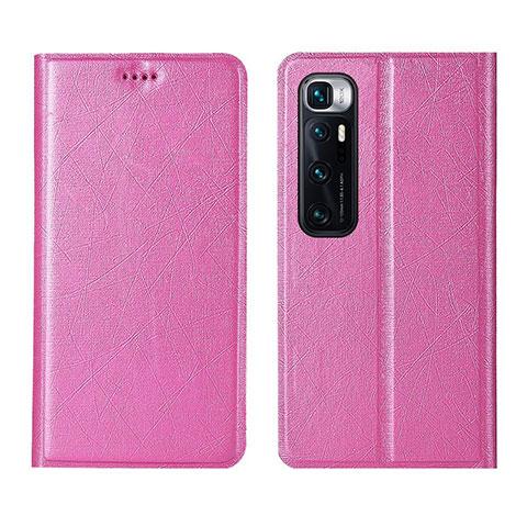 Coque Portefeuille Livre Cuir Etui Clapet L03 pour Xiaomi Mi 10 Ultra Rose