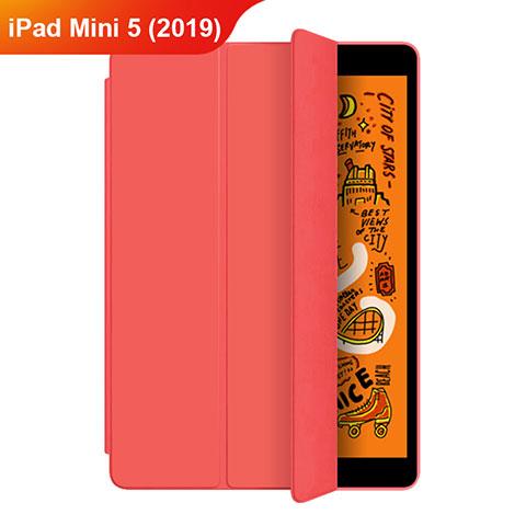 Coque Portefeuille Livre Cuir Etui Clapet L04 pour Apple iPad Mini 5 (2019) Rouge