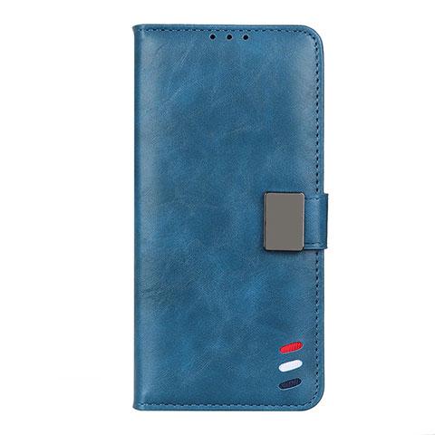 Coque Portefeuille Livre Cuir Etui Clapet L04 pour Motorola Moto G9 Plus Bleu