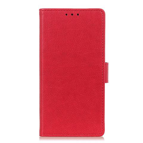 Coque Portefeuille Livre Cuir Etui Clapet L04 pour Oppo Reno3 A Rouge