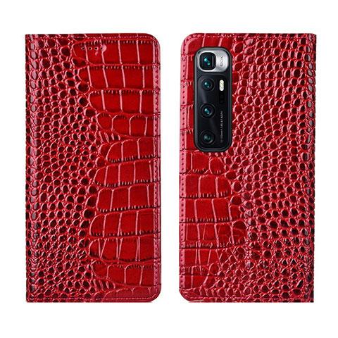 Coque Portefeuille Livre Cuir Etui Clapet L04 pour Xiaomi Mi 10 Ultra Rouge
