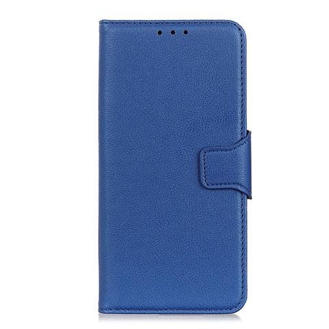 Coque Portefeuille Livre Cuir Etui Clapet L05 pour Oppo Reno3 A Bleu