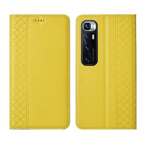 Coque Portefeuille Livre Cuir Etui Clapet L05 pour Xiaomi Mi 10 Ultra Jaune