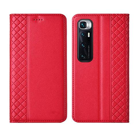 Coque Portefeuille Livre Cuir Etui Clapet L05 pour Xiaomi Mi 10 Ultra Rouge