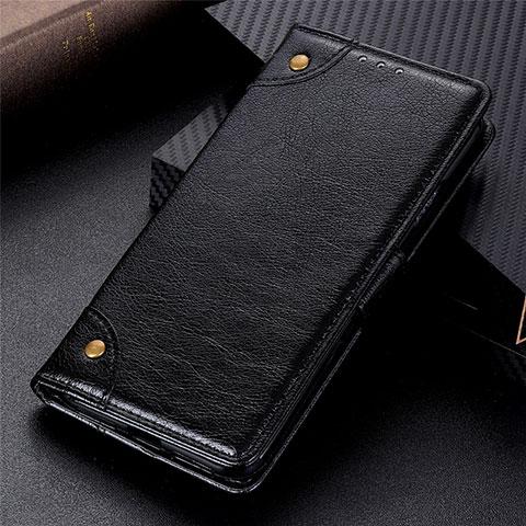 Coque Portefeuille Livre Cuir Etui Clapet L06 pour Motorola Moto G9 Plus Noir