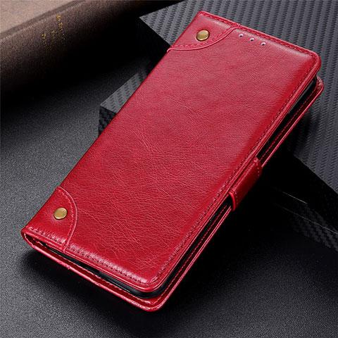 Coque Portefeuille Livre Cuir Etui Clapet L06 pour Motorola Moto G9 Plus Rouge