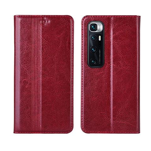 Coque Portefeuille Livre Cuir Etui Clapet L06 pour Xiaomi Mi 10 Ultra Rouge